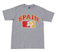 Spain Country Futbol Cotton T-Shirt - Grey