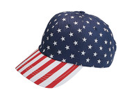 LOW PROFILE (UNSTRUCTURED) TWILL CAP W/ USA FLAG PRINT