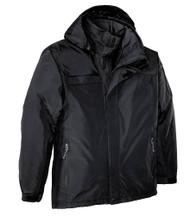 Big Mens Waterproof Nootka Jacket by Port Authority,  Black 2XLT