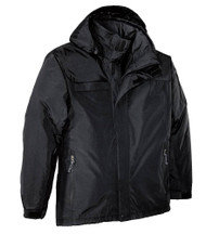 Big Mens Waterproof Nootka Jacket by Port Authority,  Black 2XLT