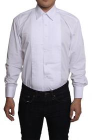 Gravity Threads Mens 1/4 inches Pleat Tuxedo Dress Dress Shirt