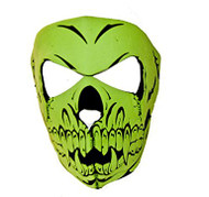 Full Face Neoprene Skull Ninja Mask - 2 Colors (One Size)