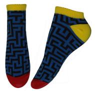Blue Maze Don't Get Lost Ankle Socks