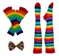 Rainbow Costume Kit (Includes Gloves, Bow Tie, Socks)
