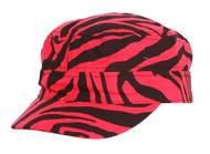 Clover Zebra Animal Print Fitted Cadet Hat - Medium/Large