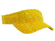 Glitter Sequin Visor in 19 Assorted Colors - Yelllow
