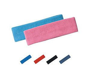 Thick Solid Color Head Band, Headband, Sweatband (14 Different Colors), Green
