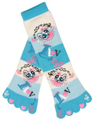 Love Bratz Striped Long Soft Toe Sock