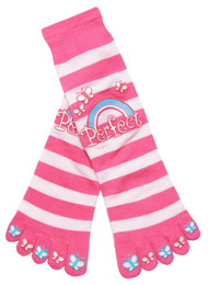 Perfect Butterflies and Rainbow Striped Long Toe Sock