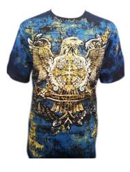 Golden Supreme Illuminati Eagle Graphic MMA Muscle  T-shirt