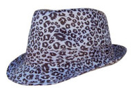 Smooth Black & White Leopard Print Fedora