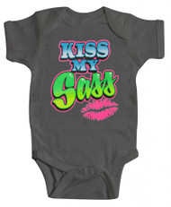 "Baby ""Kiss My Sass"" Bodysuit (Various Colors)"