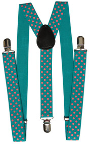 Polka Dot Suspender One Clip