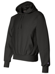 Champion 12 oz. 82/18 Reverse Weave Pullover Hood, Black