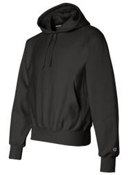 Champion 12 oz. 82/18 Reverse Weave Pullover Hood, Black