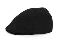 Elastic Wool Blend Ivy Cap, Black