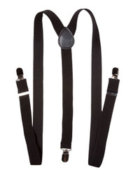 Black Terry 'Y' Suspenders