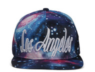 Galaxy Space City Adjustable Snapback Caps (Various Styles)