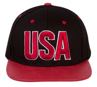 USA Country Snapback w/ Floral Flat Bill