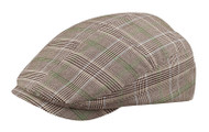 Fashion Plaid Ivy Cap - Brown, Medium
