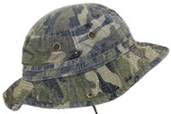 MG Camo Ripstop Floppy/Bucket Summer Hat W/Snap Up Sides