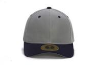 TopHeadwear Hook & Loop Adjustable Cap - Grey/Navy