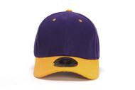 TopHeadwear Hook & Loop Adjustable Cap - Purple/Gold