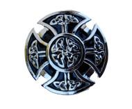 Enlarged Goth Cross Shield Belt Buckle