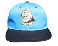 Cameron Sports Vintage Snapback Cotton Hat Cap - The Beast Blue / Black Bill