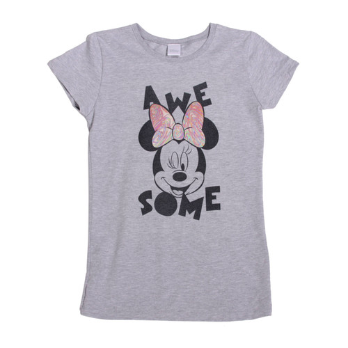 Minnie Mouse Awesome Girls The Princess T-Shirt, Heather Grey