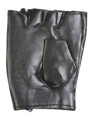 Polyester Rock Star Studded Fingerless Gloves