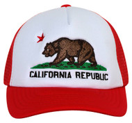 Academy California Bear Trucker Snapback Hat - Red