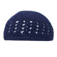 Crocheted Knit Beanie Domes- Navy