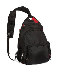 Gravity Travels Tear Drop Single Strap Sling Bag, Black