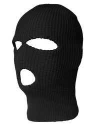 3 Hole Winter Ski Mask Balaclava - Black