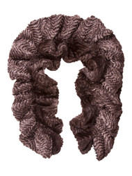 Faux Fur Stretchable Scarf Neck Warmer - Brown