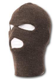 TopHeadwear's 3 Hole Face Ski Mask, Brown