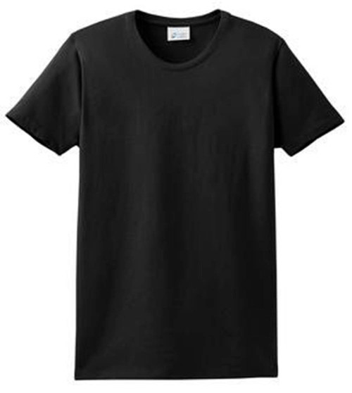 Blank Apparel PlaIn Combed Cotton T-Shirt, Black Large