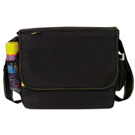 All-Purpose Messenger Bag, Black Yellow
