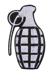 Hand Grenade Embroidery Patch