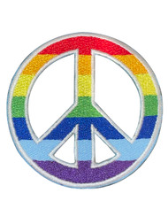 Rainbow Peace Sign Patch