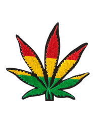 Rasta Marijuana Leaf Patch