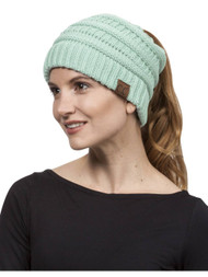 Gravity Threads Pony Tail Knit Beanie