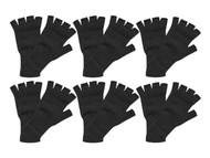Fingerless Knit Gloves 6 pieces