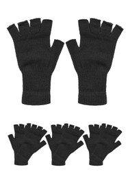 Fingerless Knit Gloves 4 pieces,