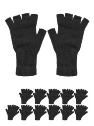 Fingerless Knit Gloves 12 pieces,