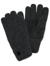 Isotoner Men's Isotoner Mens Acrylic Solid Glove With Palm Patch,Black,One Size