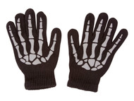 Skeleton Black Full Finger Gloves