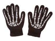 Skeleton Black Full Finger Gloves