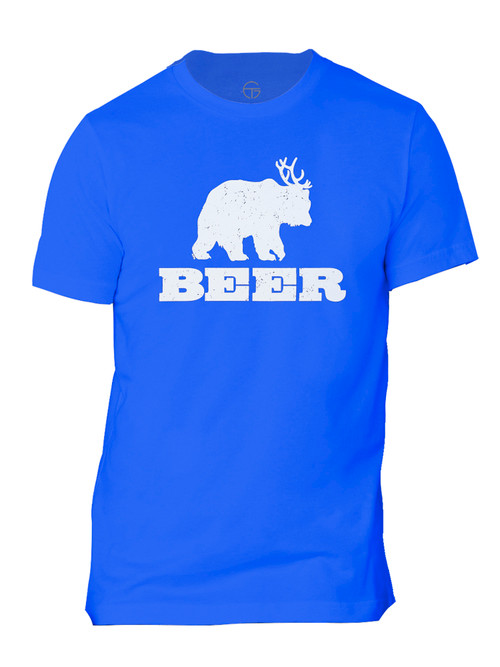 Beer Bear Deer Mens Short-Sleeve T-Shirt